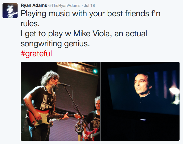 Mike Viola gets some Ryan Adams love on Twitter