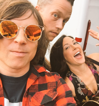 Amanda Shires, Ryan Adams and Jason Isbell together