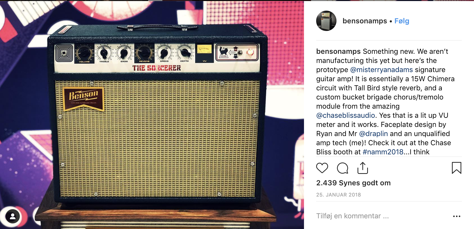 Ryan Adams signature guitar amp from Benson Amps