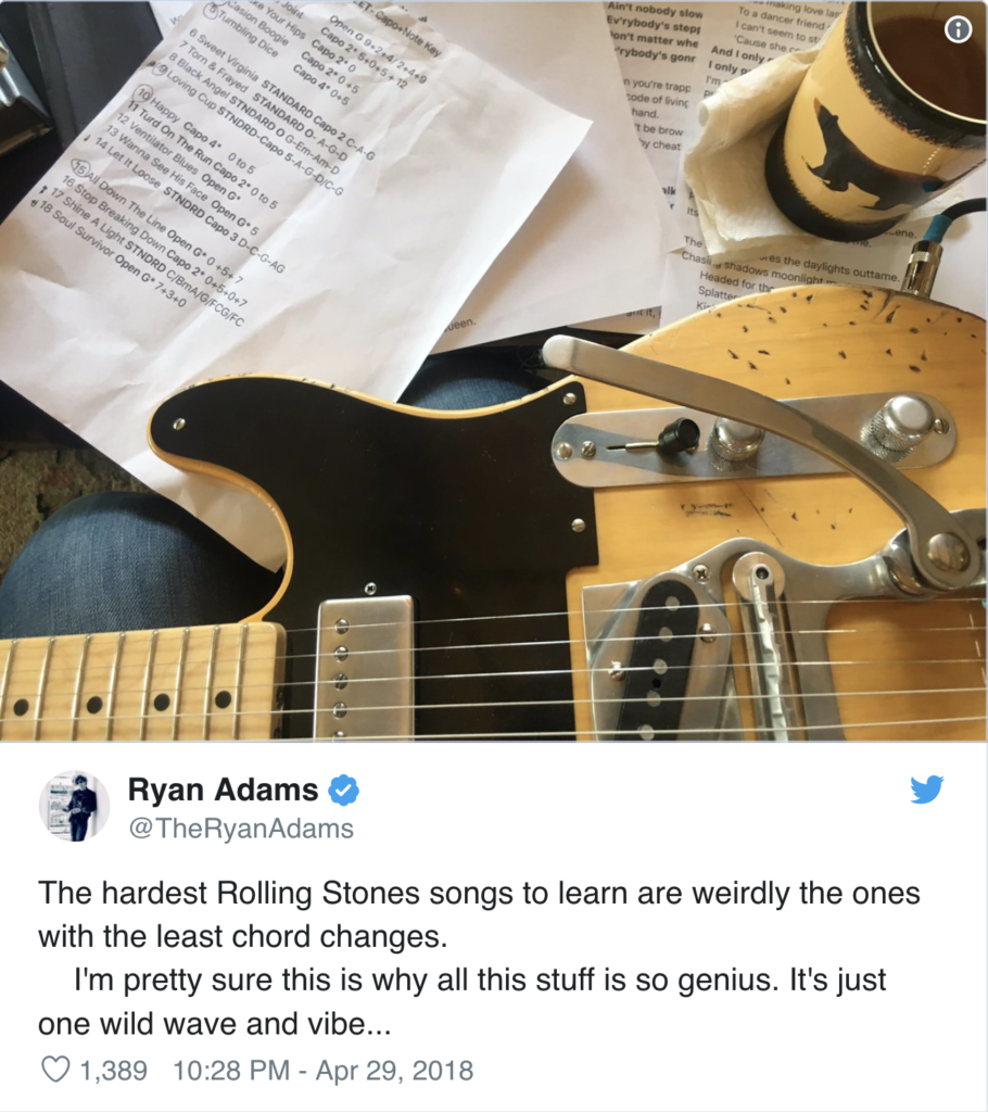 Ryan Adams rehearsing for Exile on Bourbon St