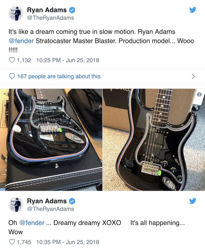 Ryan Adams signature Master Blaster stratocaster